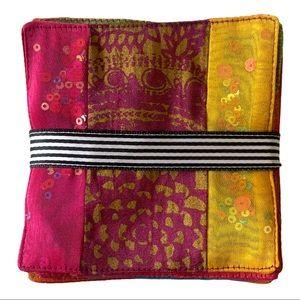 Bohemian Indian Jewel Toned Fabric Coasters